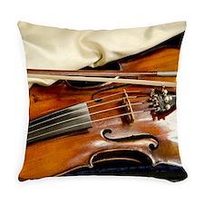 Vintage Violin Everyday Pillow