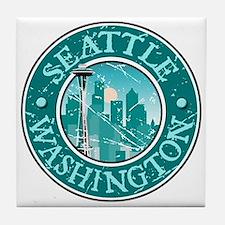 Seattle, Washington Tile Coaster