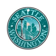 Seattle, Washington Ornament (Round)