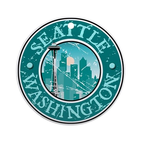 Seattle, Washington Ornament (Round)