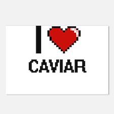 I love Caviar Digitial De Postcards (Package of 8)