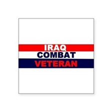 "Cute Combat veteran Square Sticker 3"" x 3"""