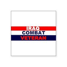 "Cute Iraq. veteran Square Sticker 3"" x 3"""