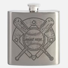 Personalized Ball Bats Diamond Flask