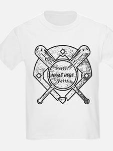 Personalized Ball Bats Diamond T-Shirt