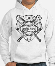 Personalized Ball Bats Diamond Hoodie