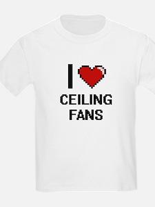 I love Ceiling Fans Digitial Design T-Shirt