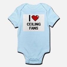 I love Ceiling Fans Digitial Design Body Suit