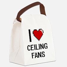 I love Ceiling Fans Digitial Desi Canvas Lunch Bag