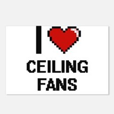 I love Ceiling Fans Digit Postcards (Package of 8)