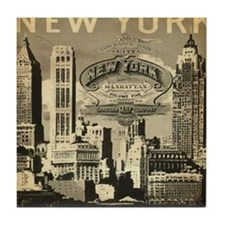 Vintage USA New York Tile Coaster