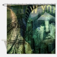 cool statue of liberty Shower Curtain
