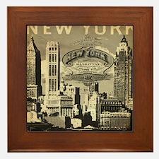 Vintage USA New York Framed Tile