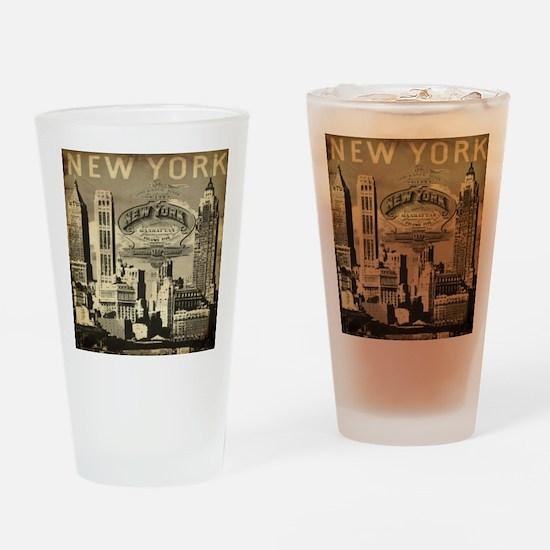 Vintage USA New York Drinking Glass