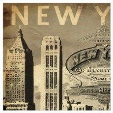 Vintage USA New York Framed Print