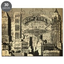 Vintage USA New York Puzzle