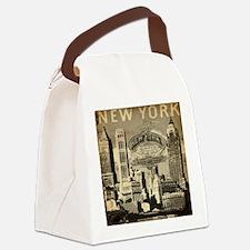 Vintage USA New York Canvas Lunch Bag