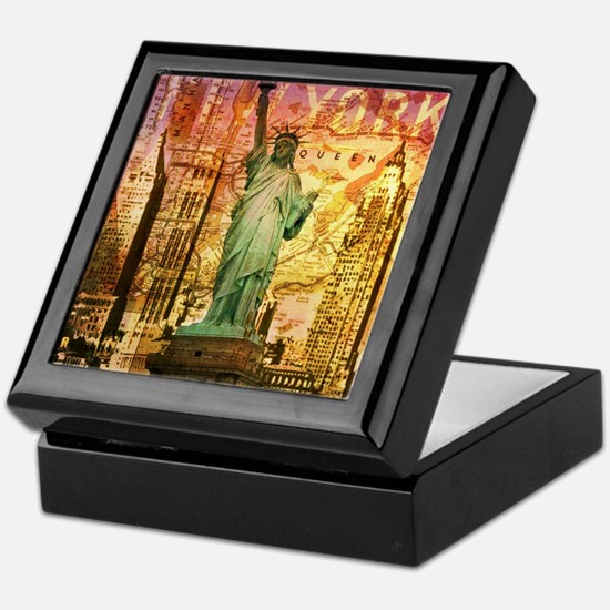 cool statue of liberty Keepsake Box