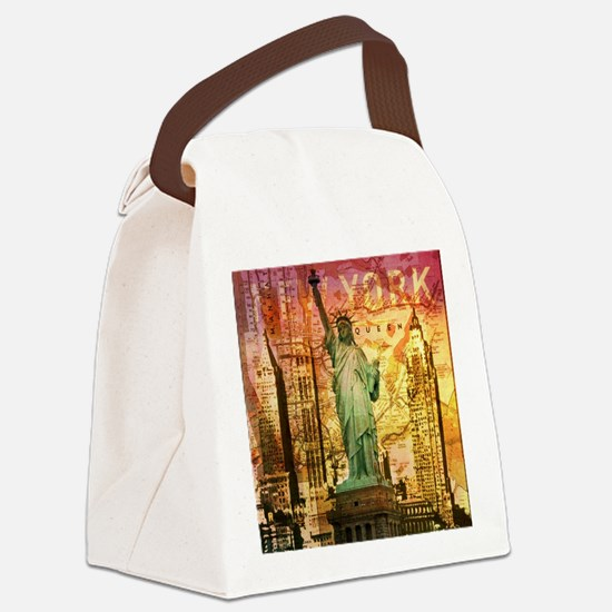 cool statue of liberty Canvas Lunch Bag