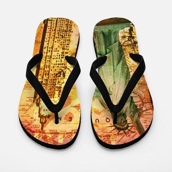 cool statue of liberty Flip Flops