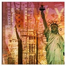 cool statue of liberty Framed Print