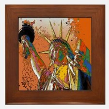 cool statue of liberty Framed Tile