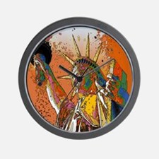 cool statue of liberty Wall Clock