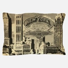 Vintage USA New York Pillow Case