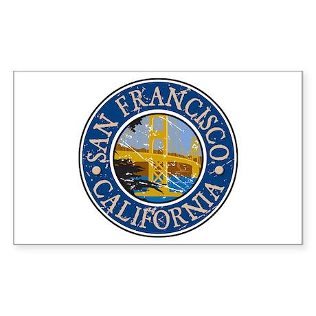 San Francisco California Rectangle Sticker