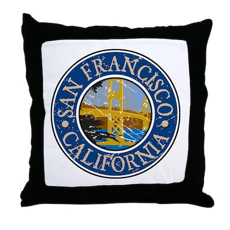 San Francisco California Throw Pillow