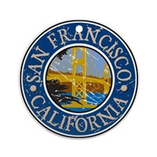 San Francisco California Ornament (Round)