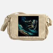 grunge cool motorcycle racer Messenger Bag