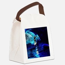beach blue waves surfer Canvas Lunch Bag