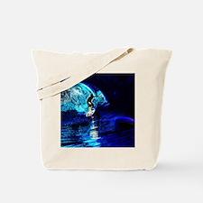 beach blue waves surfer Tote Bag