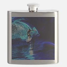 beach blue waves surfer Flask