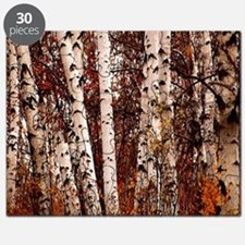 fall landscape birch tree Puzzle