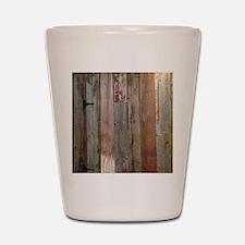 rustic western barn wood Shot Glass