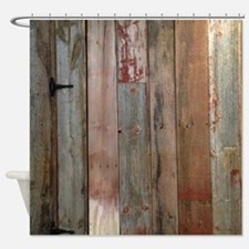 rustic western barn wood Shower Curtain