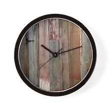 rustic western barn wood Wall Clock