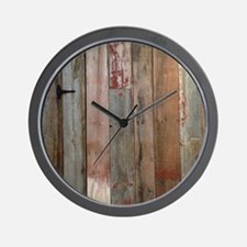 rustic western barn wood Wall Clock