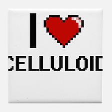 I love Celluloid Digitial Design Tile Coaster