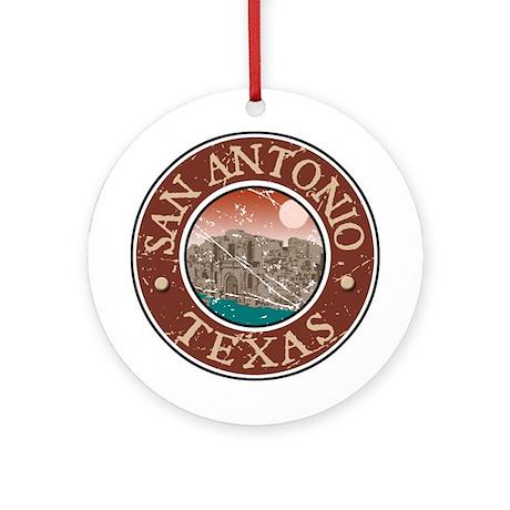 San Antonio Ornament (Round)