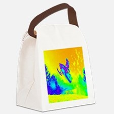 modern winter snowmobile Canvas Lunch Bag
