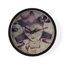 gothic grunge renaissance joker Wall Clock
