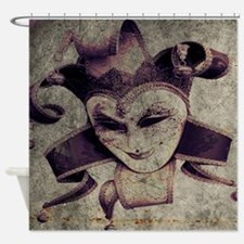 gothic grunge renaissance joker Shower Curtain