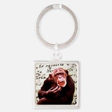 funny chimpanzee Square Keychain