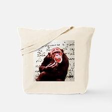 funny chimpanzee Tote Bag