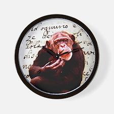 funny chimpanzee Wall Clock