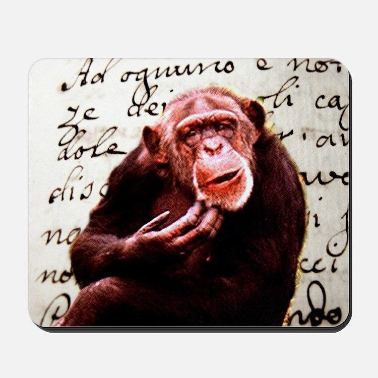 funny chimpanzee Mousepad