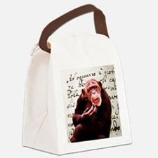 funny chimpanzee Canvas Lunch Bag